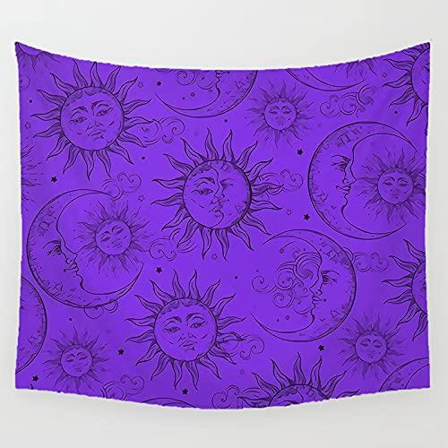 zaishuiyifang Tapiz Simple Sol Luna Impreso Revestimiento De Pared Mandala Colgante De Pared Arte De La Pared Toalla De Playa Vida A222 240X260Cm