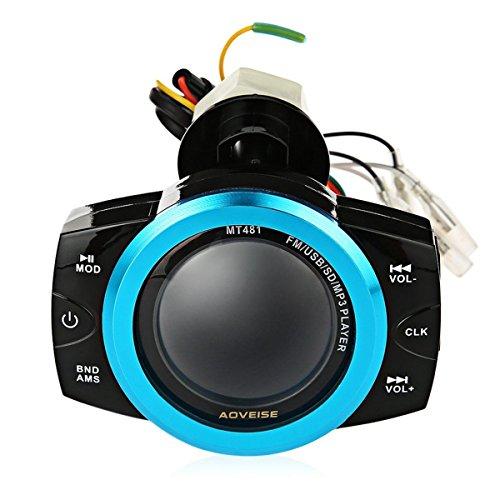 JenNiFer Stéréo FM/TF/USB/SD / Mp3 De Système Audio Antivol De Moto Imperméable