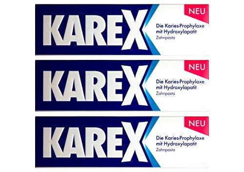 3x KAREX Zahnpasta 75ml PZN: 12607977 Zahncreme