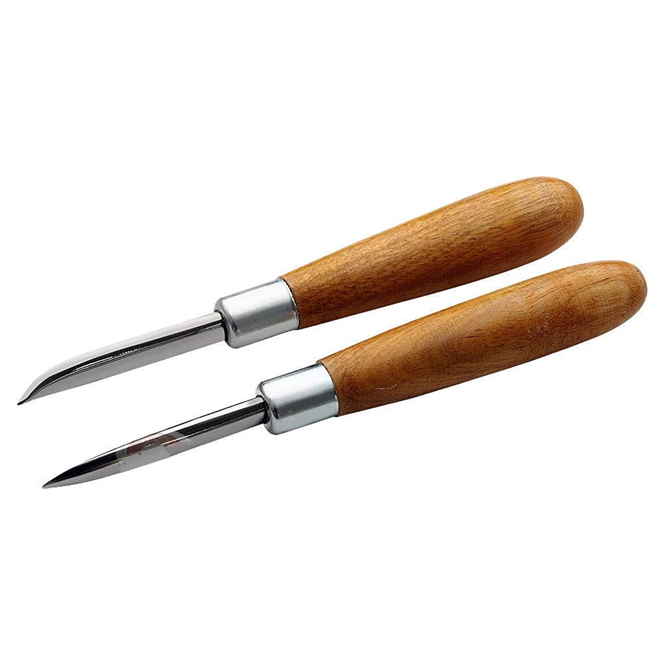 Burnishing Jewelery Tool Set Curved and Straight Burnishers Polished Wood Handle