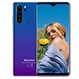 Blackview A80 Pro (2020) Smartphone ohne Vertrag 4G - 6,49 Zoll HD+ Display 4680mAh Akku, 13MP-Quad-Kamera, Helio P25 4GB RAM/64GB ROM, 256GB erweiterbar Dual SIM Android Handy (Peacock Blue)
