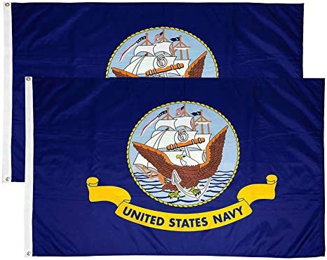 FLAGLINK US Navy Flag 3x5Fts United States Naval Military Banner 2 Pack product image