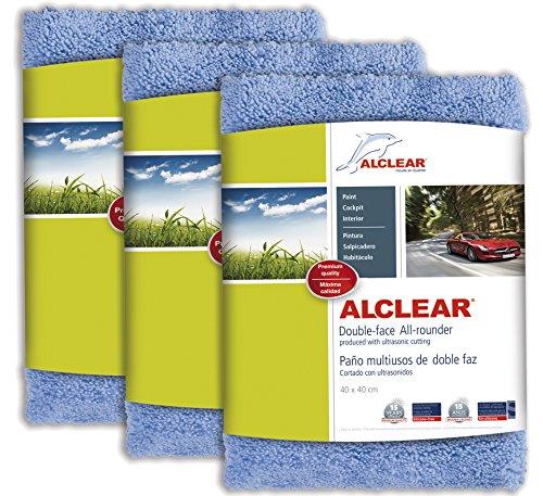 ALCLEAR 820203U Double-Face All Rounder Premium Cloth_Parent Polishing 3 unidades Bleu