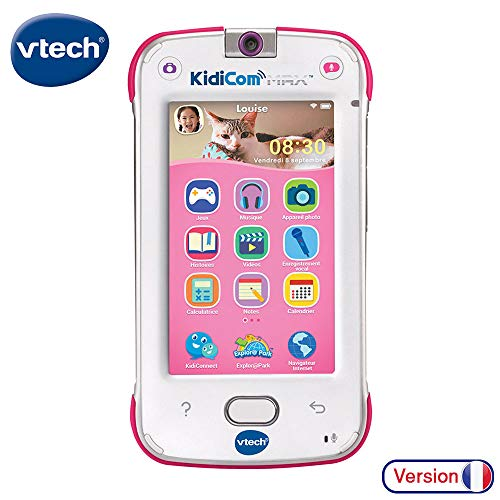 VTech – KidiCom Max Rose – Smartphone pour enfant évolutif, ultra résistant, sécurisé, avec appareil photo intégré