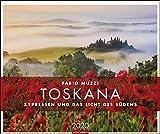 Toskana: Zypressen und das Licht des Südens. Wandkalender 2020. Monatskalendarium. Spiralbindung. Format 55 x 46 cm - Weingarten