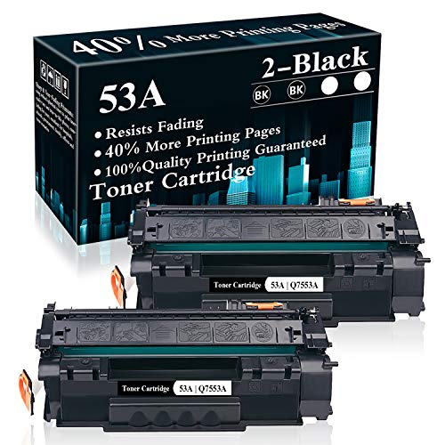 2 Black 53A | Q7553A Toner Cartridge Replacement for Hp Laserjet P2014 P2014n P2015 P2015d P2015dn P2015x M2727nf Printer,Sold by TopInk