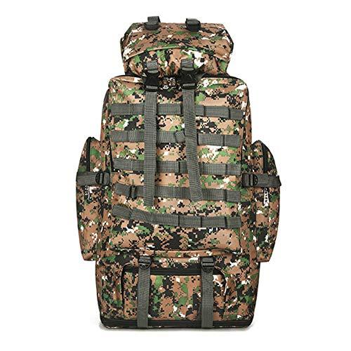 Sac Randonnee Yuan Ou 100l Outdoor Sport Camouflage Impression Sac à Dos Escalade Sac d'alpinisme Hommes Sac à Dos 80-95 * 37 * 23cm Jungle Camo