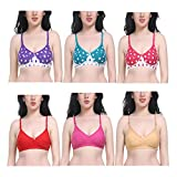 Saba Beauty New Care Non Padded Fashionable Strapless Women Bra (Pack of 6)