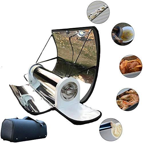 HUKOER 4.5L Horno Solar Portable, Barbacoa Cocina Solar Portátil BBQ Estufa Grado alimenticio sin Humo Inoxidable Plegable, Fácil, Delicioso y versátil Plegable, Pícnic y Camping