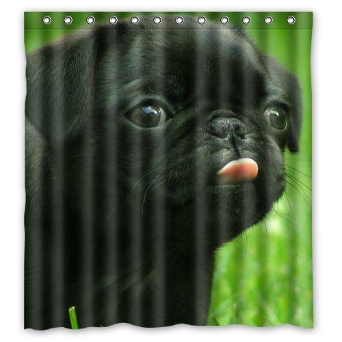 MOPS HUND Badezimmer Decor 100prozent Polyester wasserdicht Duschvorhang 167,6cm von 182,9cm