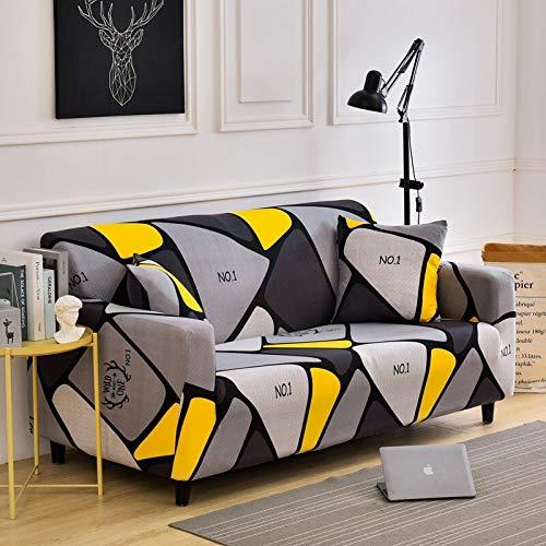 Fundas de sofá elásticas para Sala de Estar, Funda de sofá a Cuadros elástica, Funda para sofá, Funda para sofá, decoración del hogar, A7, 3 plazas