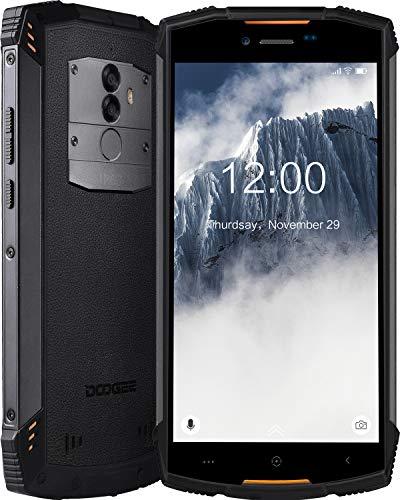 Robuster Outdoor Handy Entsperrt, DOOGEE S55 IP68 Wasserdicht Smartphone 4G, Dual SIM Freie Android 8.0 Mobiltelefon 4GB+64GB, 5,5 Zoll HD+ Handy, Kameras 13MP+8MP, 5500mAh Akku/Gesicht ID/GPS, Orange