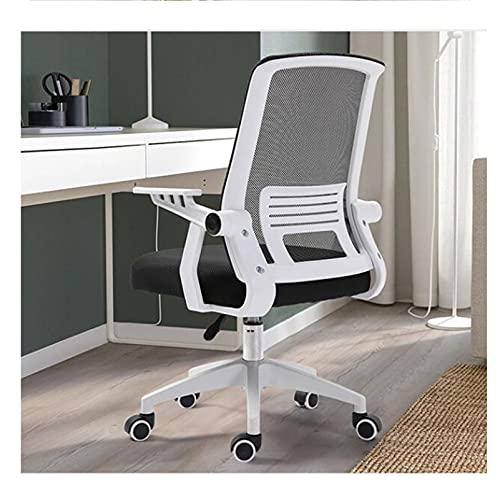 LINGZE Silla de Oficina ejecutiva ergonómica, Silla de Escritorio giratoria con apoyabrazos Ajustable, Blanco