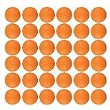 Dsmile Pelotas de práctica de golf de espuma naranja, paquete de 36 bolas elásticas ligeras y suaves para entrenamiento