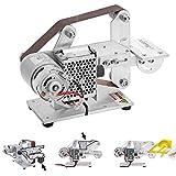 Huanyu Lijadora de banda micro Lijadora eléctrica de correa DIY 895/997 Herramienta de rectificado de cuchilla de motor (997 Motor, 480W de Potencia)