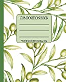 Wide Ruled Composition Book: Classic and clean olive branch themed cover will make your notebook look fresh while you keep organized at work, school, ... Composition Notebooks) [Idioma Inglés]
