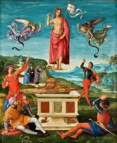 Ressurreição de Cristo (1499) de Rafael - 50x61 - Tela Canvas Para Quadro