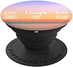 Live Laugh Love - Sunset In Hawaii Design - PopSockets Grip and Stand for Phones and Tablets