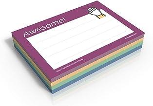 4x Awesome Notes - 200 Wertschätzungs-Haftnotizen Awesome - Ottimo lavoro - Grazie - Molto felice - 70 g/qm - 100 x 72 mm...