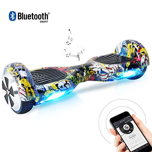 BEBK Hoverboard 6.5' Smart Self Balance Scooter Autobilanciato Skateboard...