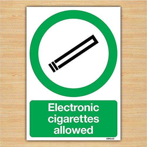 Elektronische Zigaretten Allowed Schild–Rauchen Bereich Signs By Lichtschalter CO, plastik, 148mm x 210mm A5
