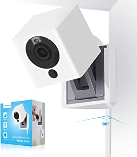LANMU Wall Mount Compatible with Wyze Cam V2, Right-Angle Corner Mount Holder, Wider Viewing Angle for Home Security