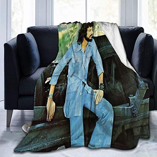 huatongxin Couverture en Peluche douce et moelleuse Cat Stevens Couverture légère en Microfibre Pour lit, canapé, Chaise, Salon 60 'X50'