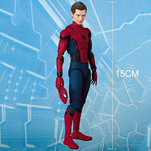 Wild MD Avengers Spider-Man Bewegliches Kinderspielzeug Actionfigur Modell PVC Material Höhe Ca. 15cm A