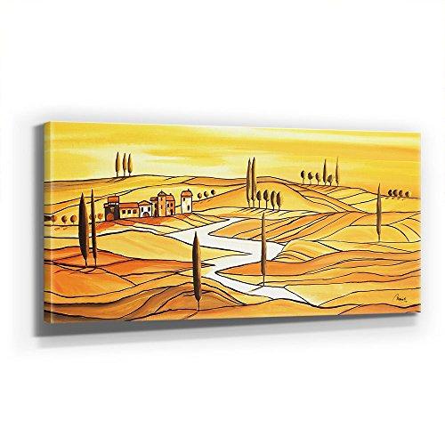 Mia Morro - TUSCANY ITALY 110x50cm XXL BILD - KUNST, Leinwand auf Echtholzrahmen aufgespannt, UV-stabil und wasserfest, modernes XXL Deko Bild FineArtPrint Wandbild
