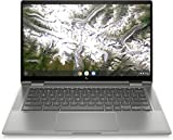 HP Chromebook x360 14c-ca0000sf/14c-ca0005nf Ordinateur Ultraportable Convertible et Tactile 14'' HD IPS Argent (Intel Core i3, RAM 8 Go, eMMC 128 Go, AZERTY, Chrome OS)