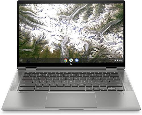 HP Chromebook x360 14c-ca0000sf/14c-ca0005nf Ordinateur Ultraportable Convertible et Tactile 14'' HD IPS Argent (Intel Core i3, RAM 8 Go, eMMC 128 Go, AZERTY, Chrome OS)