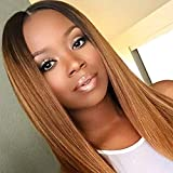 Ombre Straight 4x4 Closure Wig Remy Hair 1b/30 Lace Front Wig Human Hair 4x4 Lace High Grade Brazilian Hair 4x4 Closure Wig Bleached Knots With Baby Hair Echthaar PerüCke 14 Zoll