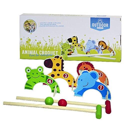 OUTDOOR 0713005 - Ballspiel, Play Croquet Set, Mehrfarbig