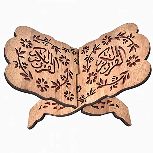 Semiter Koran Holder, Decoration Book 29.2cm Quran, Accurate Carving Craftsmanship for Decoration Book Islam Eid Al-fitr Unique Festivals As Decoration