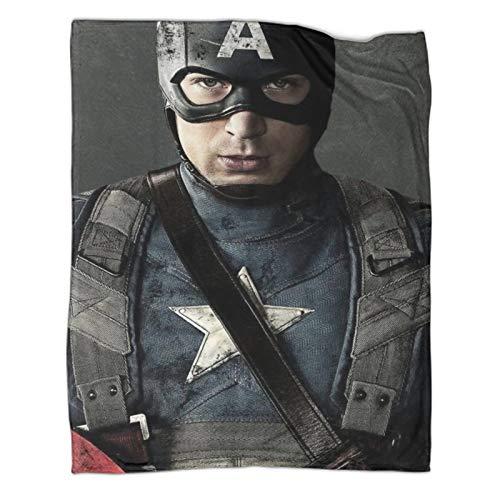 Xaviera Doherty Captain America Superhero Movie leichte Reisedecke, 150 x 200 cm, weiche und bequeme Bettdecke, Kinderbettwäsche