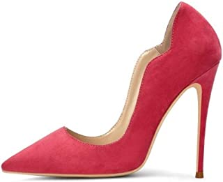Fashion Pointed High Heels For Banquet Wedding Dress Daily (Color : Rosy, Size : 35)