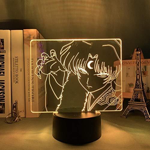 Inuyasha - Lámpara 3D LED de luz nocturna para niños y jóvenes, decoración de Navidad, cumpleaños, regalo de inuyasha