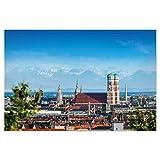 artboxONE Poster 45x30 cm Städte/München Frauenkirche mit