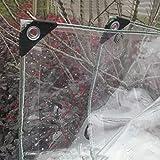 HH- Lona alquitranada, Lona Transparente Impermeable Industrial para Patio De Jardín Al Aire Libre, Lonas Transparentes Plegables con Ojales A Prueba De Herrumbre - 0.5 Mm, 420 G / ㎡ (Size : 3×5m)