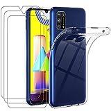 iVoler Custodia Cover per Samsung Galaxy M31 con 3 Pezzi Pellicola Vetro Temperato, Ultra...