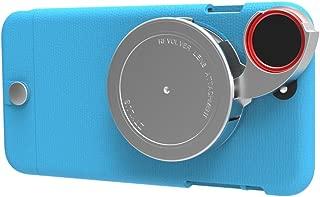 Ztylus iPhone 6s Plus / 6 Plus Lite Series Camera Kit w/ 4-in-1 Lens Attachment (Premium Textured Leather Finish Style) (Blue)
