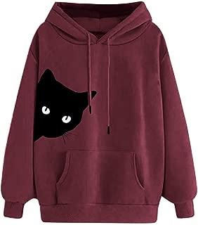 Holzkary Womens Hoodie Trendy Printed Long Sleeve Pullover Sweatshirt Slouchy Hoodies with Pocket