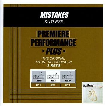 Premiere Performance Plus: Mistakes