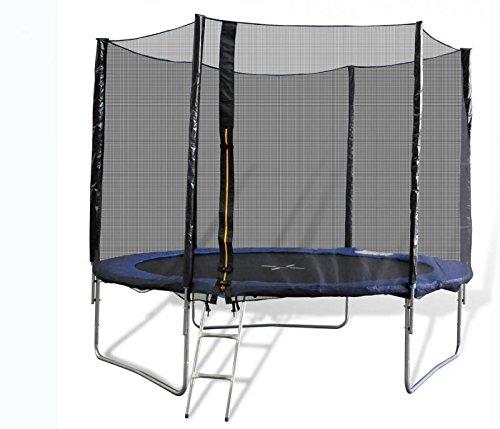 Trampolino elastico da 244 cm con rete e scaletta