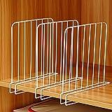 Séparateurs d'étagère, paquet de 3 diviseurs d'étagère en fil de placard, séparateurs verticaux d'organisateur en métal blanc pour armoires de garde-robe d'étagère en bois bureau de cuisine