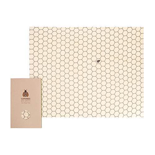 SuperBee Bienenwachstuch   Big Daddy XXL Brot Wax Wrap   Hexagonia   zertfizierte Bio-Baumwolle, Wiederverwendbar, Umwelt-Freundlich, Zero Waste Brot Wrap, 100% Kompostierbar