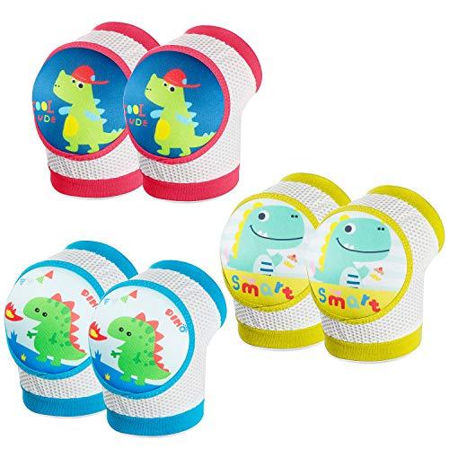 WolinTek 3 Paare Baby Junge Knieschoner, Baby Kleinkind weiche Knieschützer für krabbelnden Walking Leg Elbow Protector