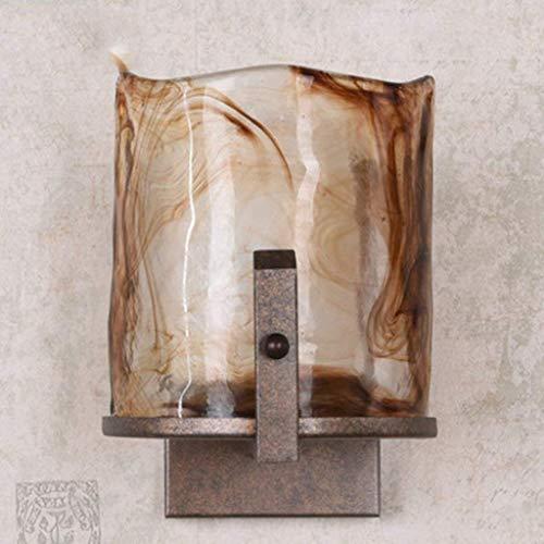 JJZLY Cheminée Fer et Table à Repasser, Salle de Bains Front Lights Mirror Applique Murale Rétro-éclairage Economique Flat House Canvas Decorative Lights Choisir,Métallique