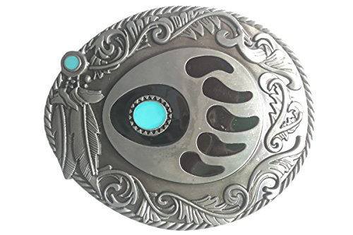 Bai You Mei Western Leaves Bear Griffe Art Boucles de ceinture Native American Indian Cowboy Boucle de ceinture