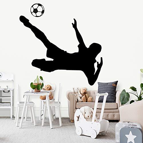 wukongsun Fútbol niño salón decoración Apliques niño niño habitación decoración Pegatina Mural Papel Pintado Negro XL 58cm X 68cm